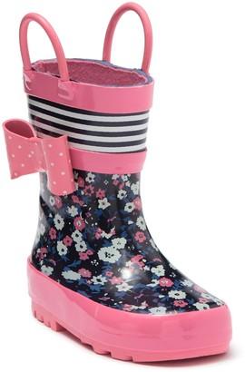 Joe Fresh Dual Handle Pull-On Rain Boot (Toddler)
