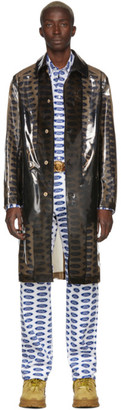 Versace Transparent Black PVC Trench Coat