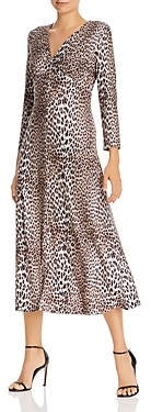Notes Du Nord Nicci Leopard Print Easy Pullover Dress