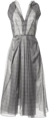 Maticevski Mariposa silk plaid dress