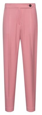 HUGO BOSS Tapered-fit cropped trousers in stretch fabric