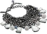 Badgley Mischka Crystal & Pearl Shaky Bracelet