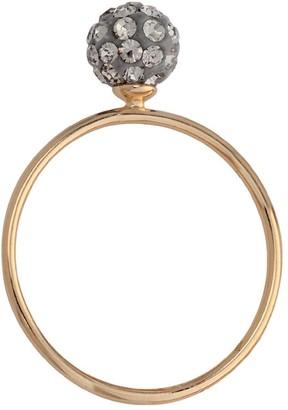 Bijoux pour tous Ring Gold-Plated Zirconium Oxide 5200993 G Gray