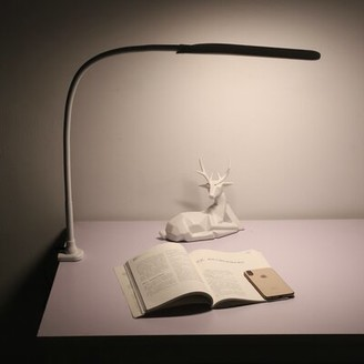 """Latitude Run Demarri 6.1"""" Lamp with USB and Outlet Base Color: White"""
