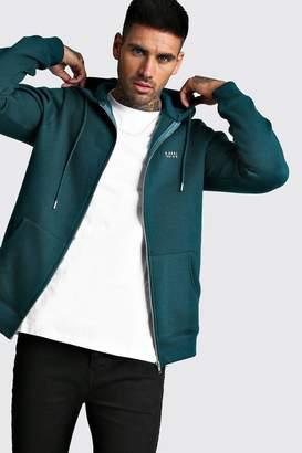 boohoo Original MAN Zip Through Fleece Hoodie