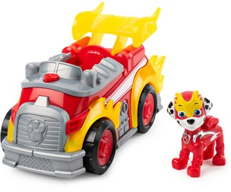 Paw Patrol Mighty Pups Super Paws Deluxe Vehicle Marshall