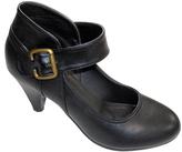 Black Buckle Ankle-Strap Pump