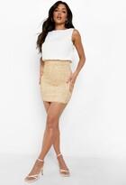 Boohoo Delia 2 in 1 Chiffon Top Sequin Skirt Bodycon Dress