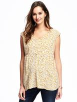 Old Navy Maternity Patterned V-Neck Tank