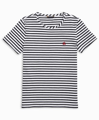 Brooks Brothers Striped Stretch Cotton Jersey Crewneck T-Shirt