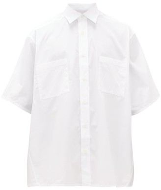 Givenchy Oversized Cotton-poplin Shirt - Mens - White