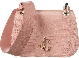 Jimmy Choo Varenne Croc-Embossed Leather Crossbody