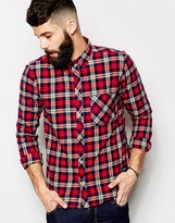 Only & Sons Brushed Check Shirt In Slim Fit