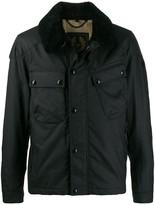 Belstaff fur lined bomber jacket