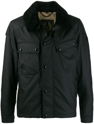 Belstaff fur lined bomber jacket
