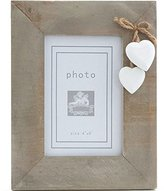 Driftwood 6x4 frame with white hanging hearts