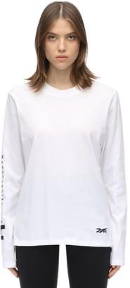 Reebok x Victoria Beckham Logo L/s Cotton Jersey T-shirt