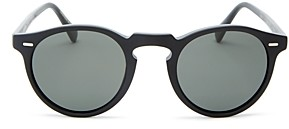 Oliver Peoples Unisex Gregory Peck Round Sunglasses, 47mm