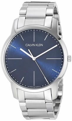 Calvin Klein Mens City Watch - K2G2G1ZN Blue/Silver One Size