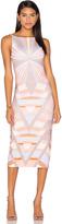 Mara Hoffman Prism V-Back Midi Dress