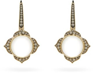 Noor Fares Nirvana Diamond & 18kt Grey-gold Earrings - Grey