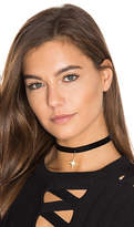 Natalie B Nebula Choker in Metallic Gold.