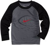 Nike Toddler Boy Logo Football Raglan Tee