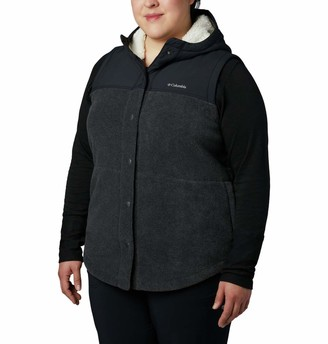 Columbia Women's Benton Springs Overlay Vest Snap Up Fleece