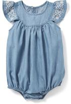 Old Navy Chambray Bubble One-Piece for Baby