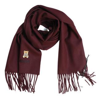 Moschino Burgundy Wool Scarves