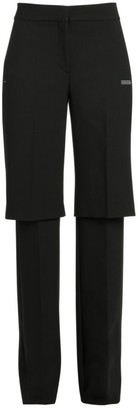 Off-White Off White Formal Double-Layer Trousers