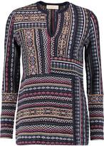 Tory Burch Intarsia-knit wool and alpaca-blend sweater