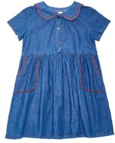 Margherita Girl's Embroidered Chambray Dress