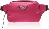 Prada Leather-Trimmed Nylon Belt Bag