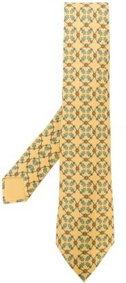 Hermes pre-owned geometric print tie