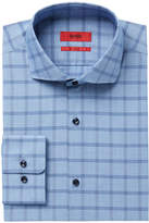 HUGO BOSS HUGO Men's Slim-Fit Micro Check Dress Shirt