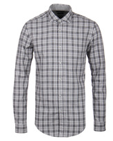 Boss Ridley_36 Slim Fit Light Grey Checked Shirt