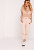 Missguided Petite Exclusive Mesh T Shirt Nude