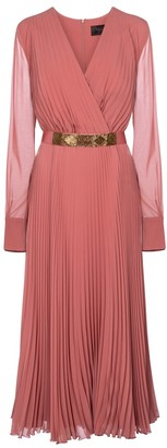 Max Mara Sidra pleated georgette midi dress