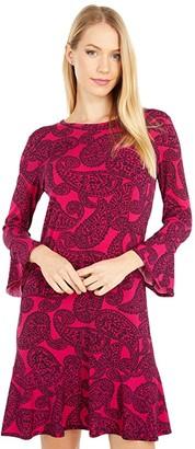 MICHAEL Michael Kors Floral Mix Flounce Dress (Azalea) Women's Dress