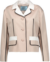 Prada Color-block wool and silk-blend blazer