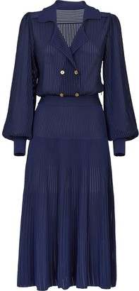 Fendi Ribbed Shirt Dress