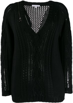 Patrizia Pepe v-neck knit jumper
