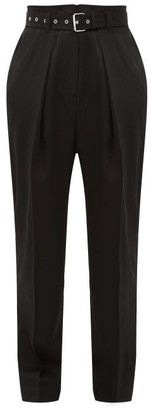 J.W.Anderson Belted High-rise Wool-twill Trousers - Black