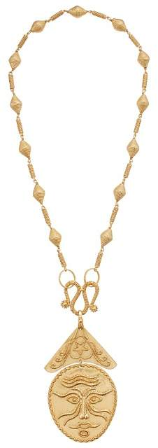 Tory Burch Sculptural Face Statement Necklace Necklace