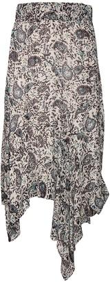 Etoile Isabel Marant Eda Printed Georgette Midi Skirt
