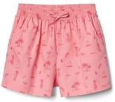 Gap Print poplin dolphin shorts