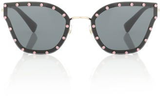 Valentino Embellished cat-eye sunglasses
