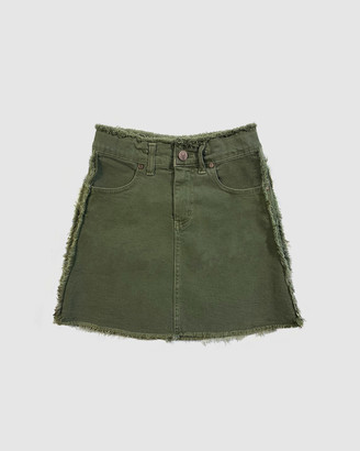 Gelati Jeans Kids - Girl's Green Denim skirts - Freya Pigment Khaki Denim Skirt - Size One Size, 10 at The Iconic