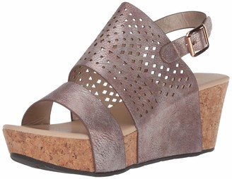 Volatile Women's Spruce Ankle Strap Die-Cut Wedge Sandal Rosegold